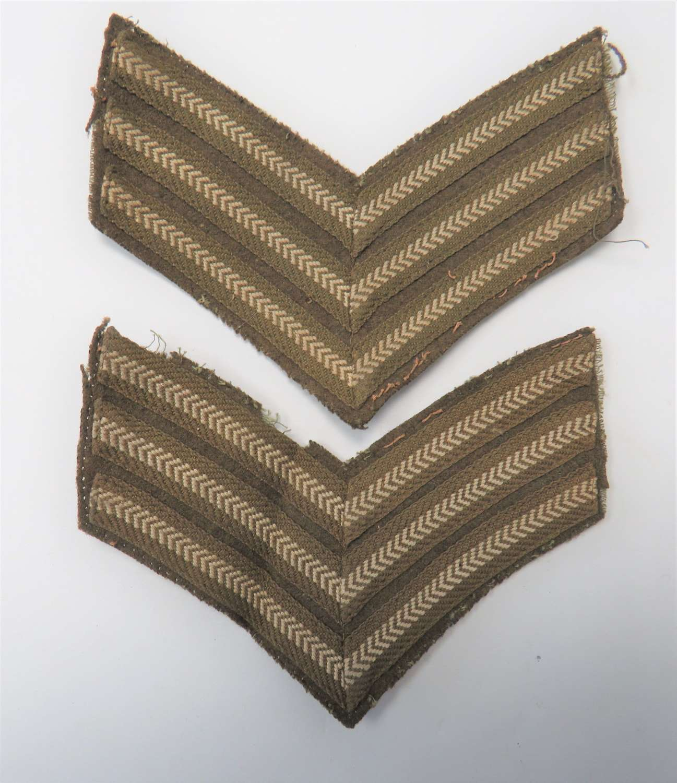 Pair of WW2 Sergeant Stripes