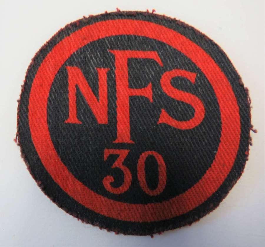 WW2 Printed N.F.S 30 (Maidstone ) Breast Badge