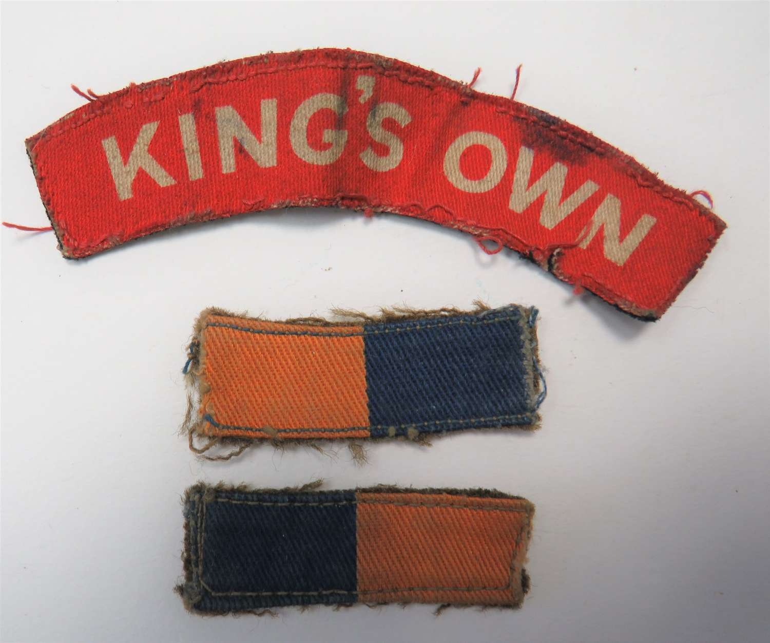 Kings Own Printed Title and Regimental Formation Bars