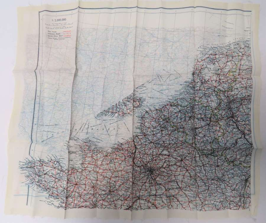 WW2 Air Crew / Special Forces Double Side Silk Map of Europe
