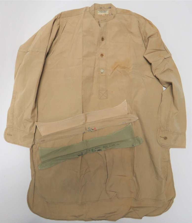 WW 2 Army Officers Half Front Collarless Shirt