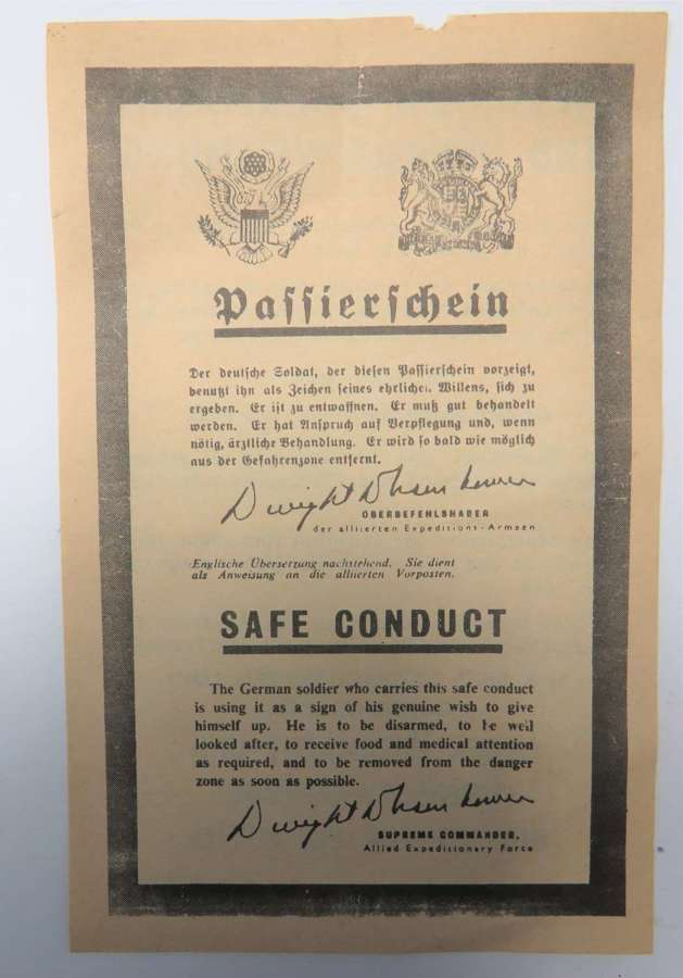 WW2 Safe Conduct Pass