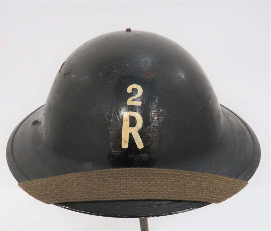 WW2 Rescue Party Helmet With District Number