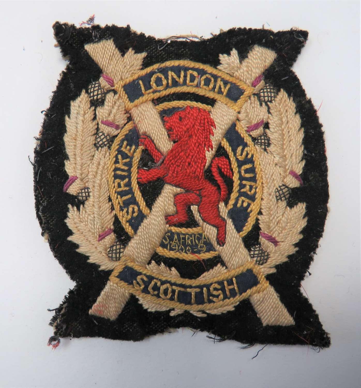 London Scottish Vintage Blazer Badge