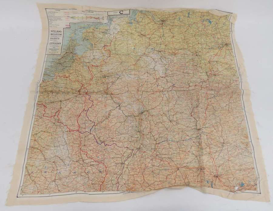 WW2 R.A.F / Special Forces Silk Escape Map of Europe