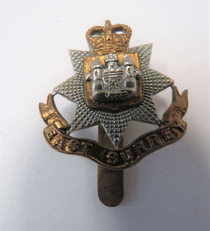 Post 1953 East Surrey Regiment Beret Badge