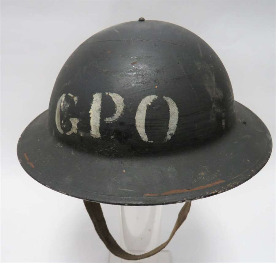 Rare WW2 G.P.O 1939 Dated Civil Defence Steel Helmet