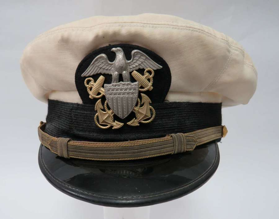 WW2 United States Navy Officers Service Dress Cap