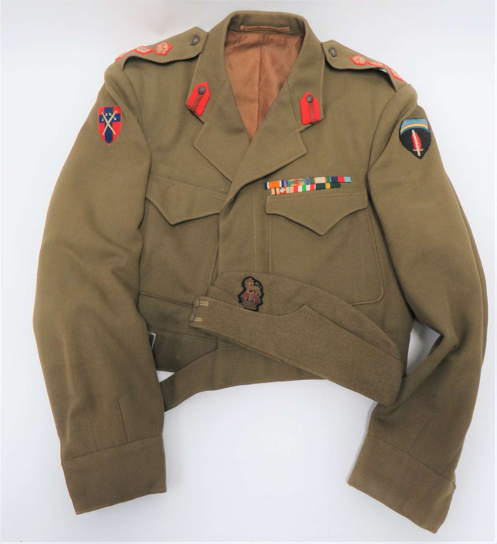 WW2 Staff Colonels Battle Dress Jacket and Field Service Cap