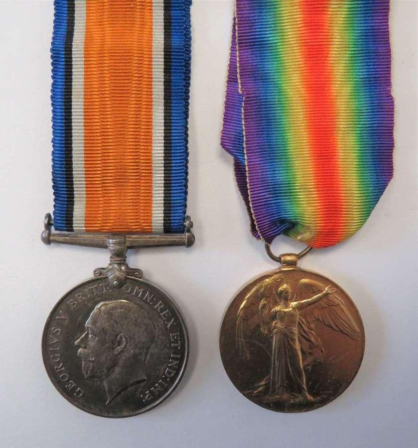 WW1 Coldstream Guards Medal Pair