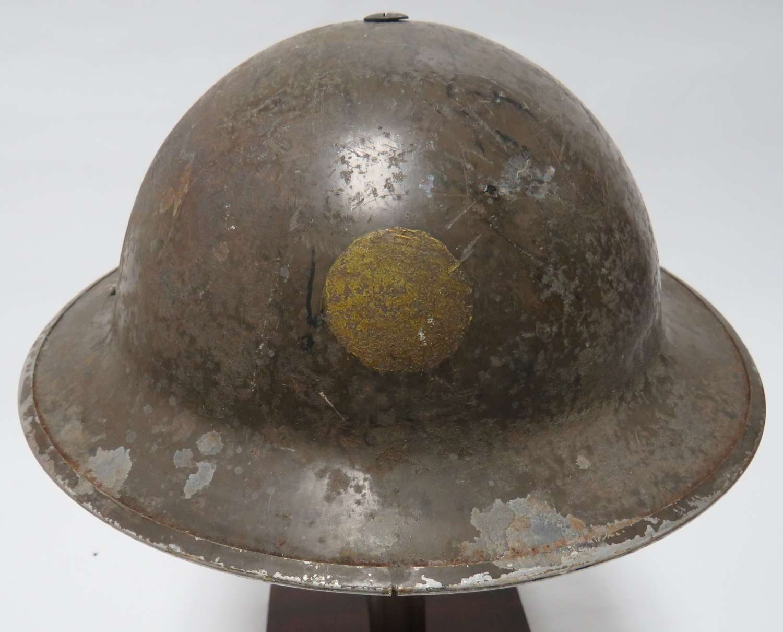 1939 Dated Divisional Badged Steel Helmet