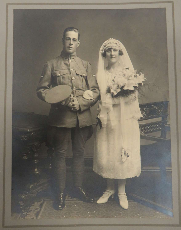 Two Interwar Large Photos of a R.A.F Airman's Wedding