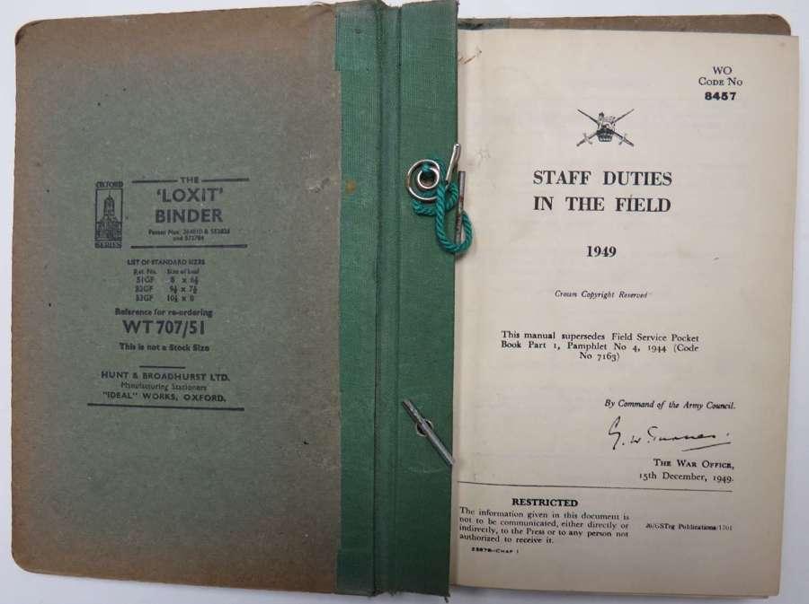 1949 Staff Duties in the Field Handbook