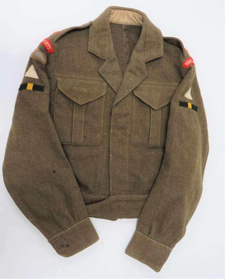 Bedfordshire & Hertfordshire 1st Division Officer Battle Dress Jacket