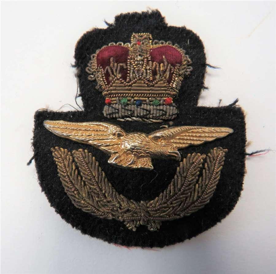 Post 1953 Royal Air Force Officers Cap Badge