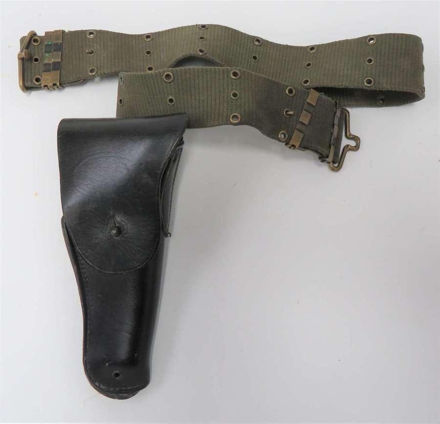 Post WW2 Colt Auto Pistol Holster and Belt