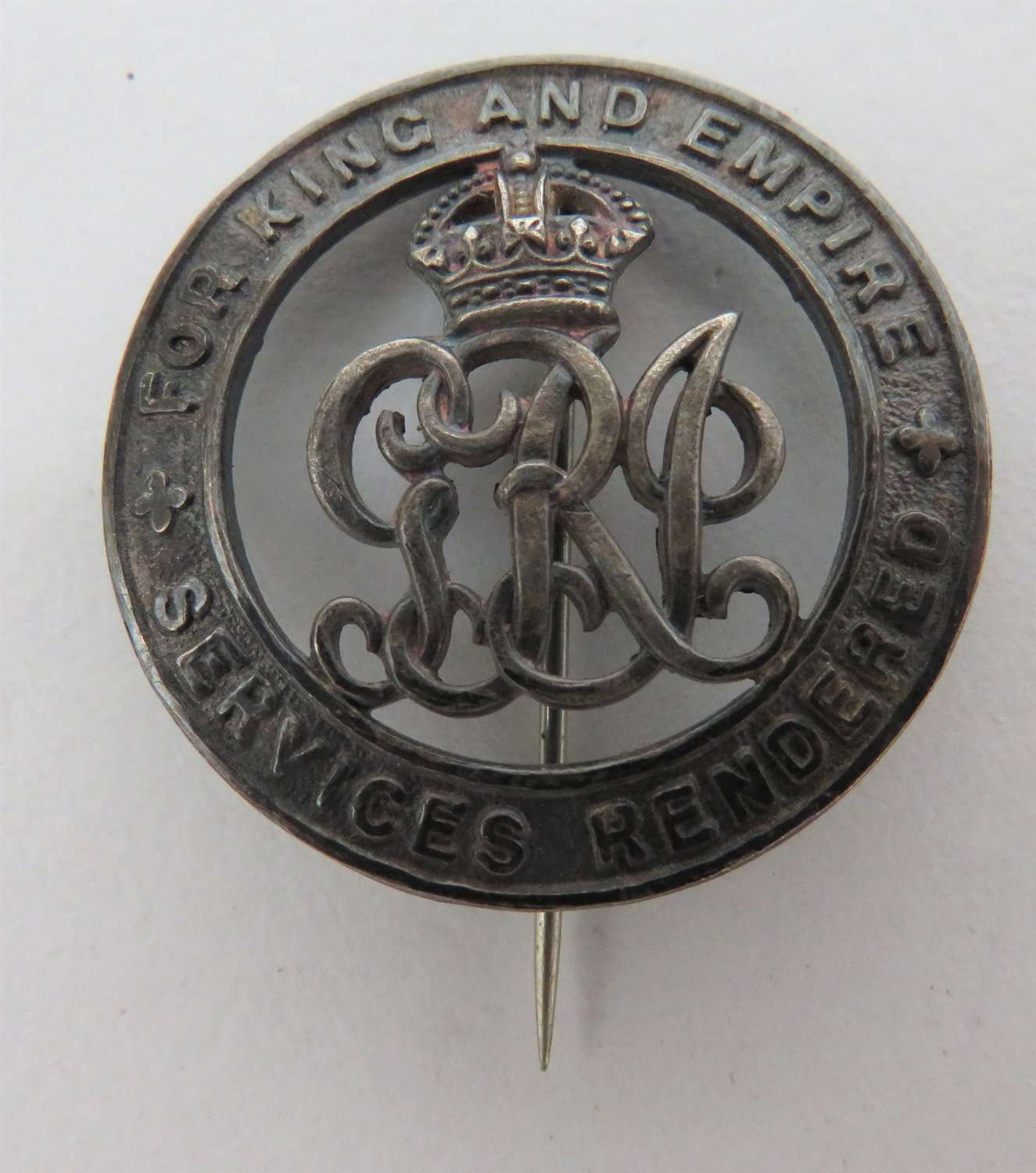 WW1 Services Rendered Silver Badge