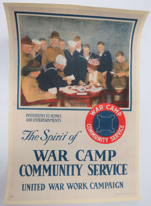 WW1 American War Camp Community Service Poster
