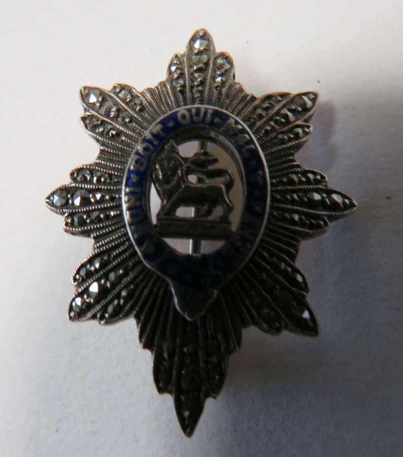 Worcestershire Regiment Sweetheart Badge