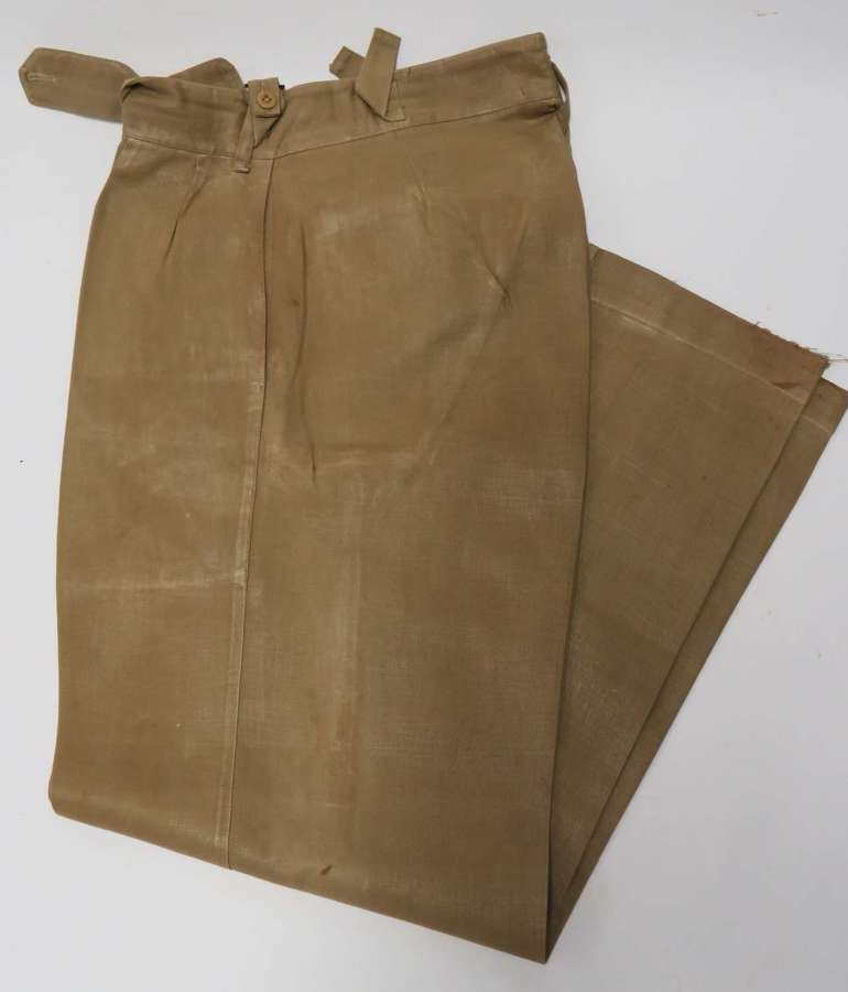 Pair of WW2 Officers Tropical Service Dress Trousers