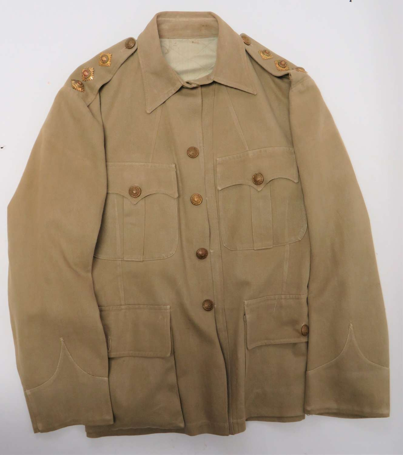 Rare Interwar Officers Tropical Tunic with Spine Protector