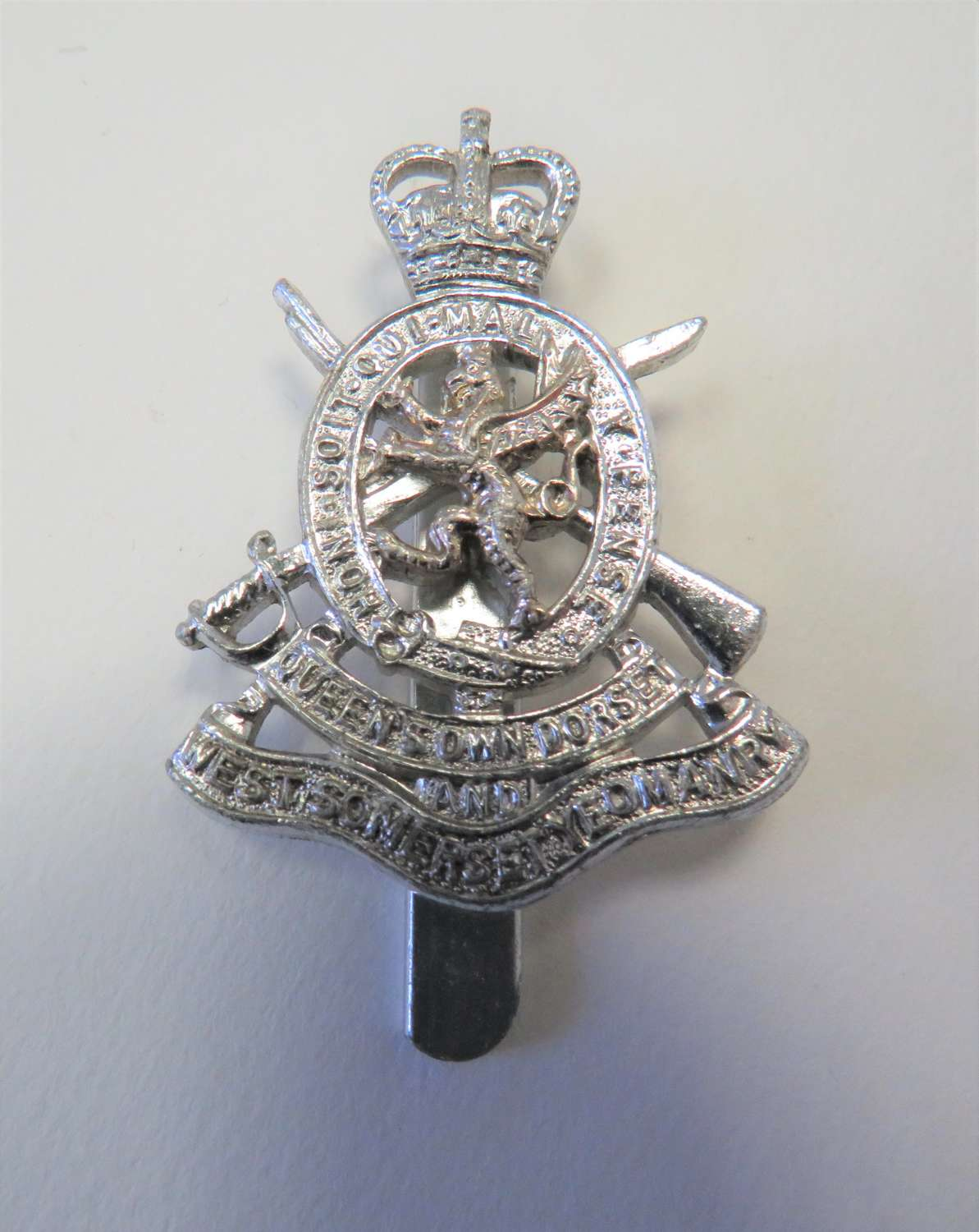 Queens Own Dorset and West Somerset Yeomanry Anodised Cap Badge