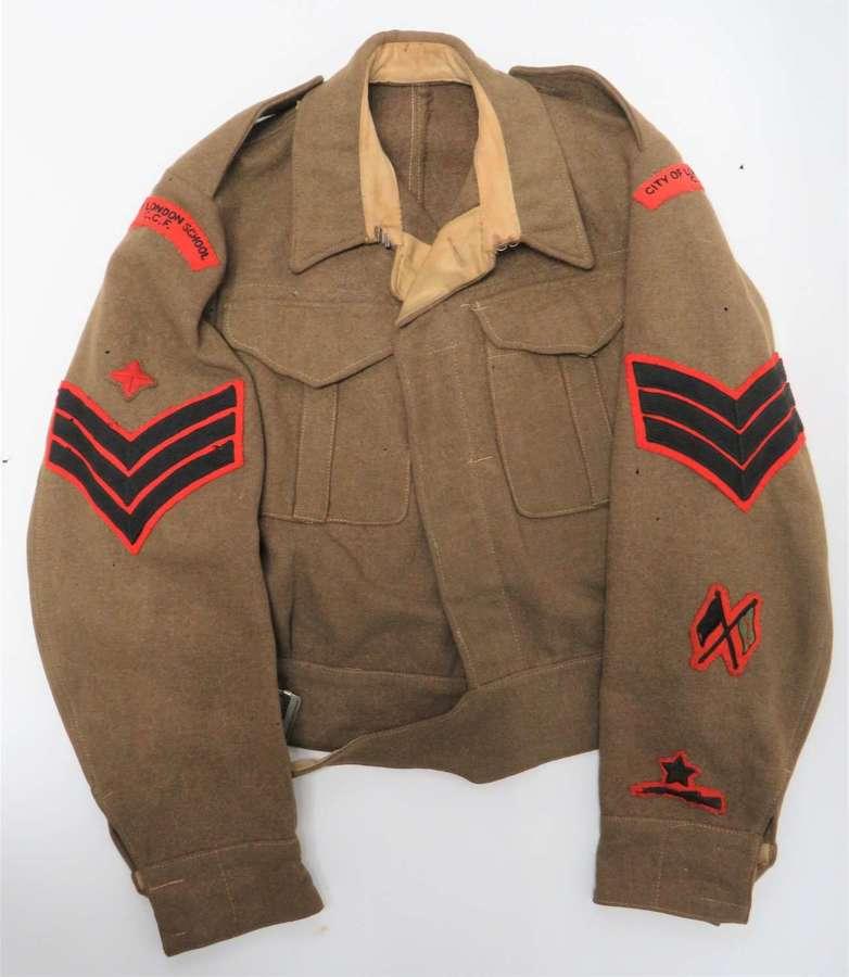 Scarce City of London School C.C.F 1937 Pattern Battledress Jacket