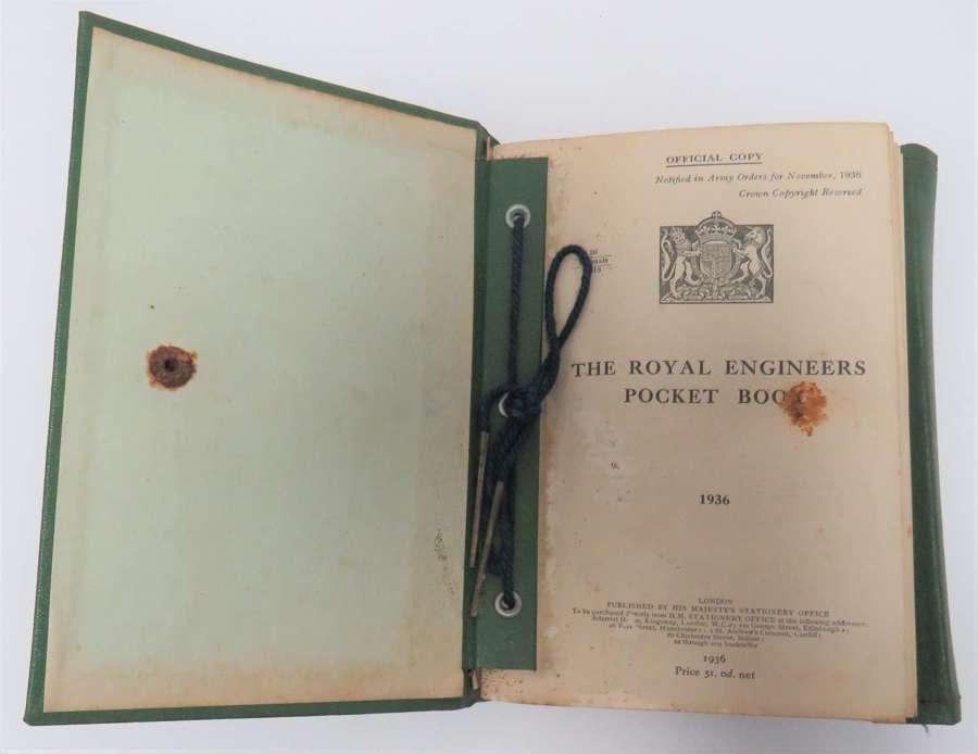 Pre War 1936 Royal Engineers Pocket Book