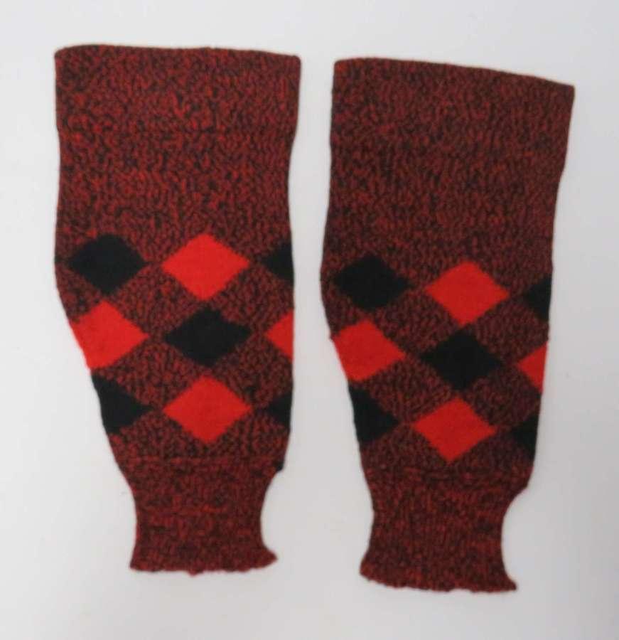 Scarce Pair of Scottish Regimental Footless Socks