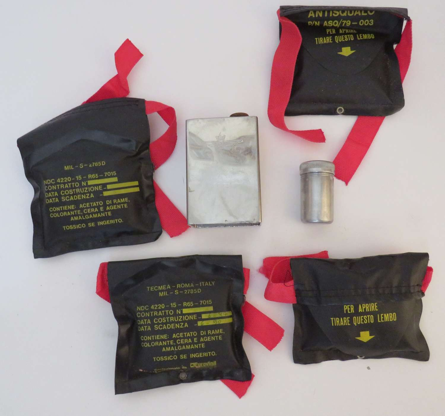 Selection of Current Royal Air Force Used Survival Equipment