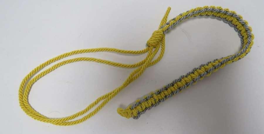 Military Coloured Whistle Lanyard