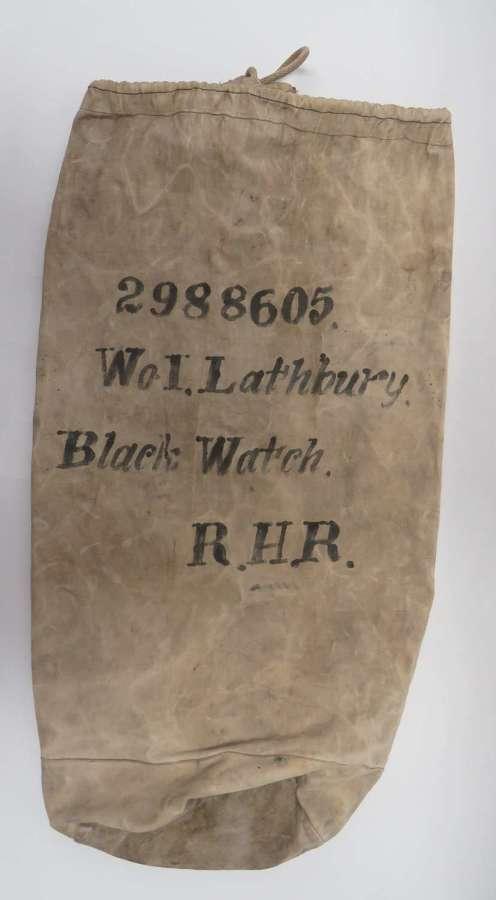 1943 Dated Black Watch N.C.O s Kit Bag