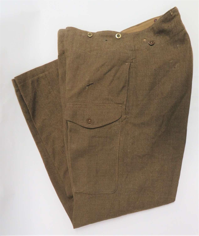 WW2 Code Dated 1942 British Battledress Trousers