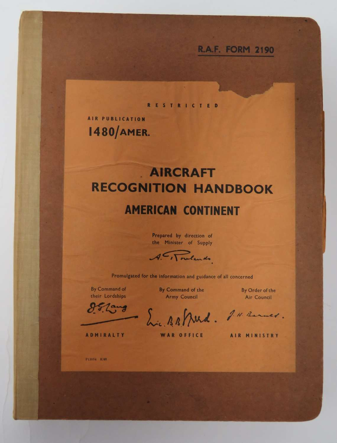 Aircraft Recognition Handbook on the American Continent