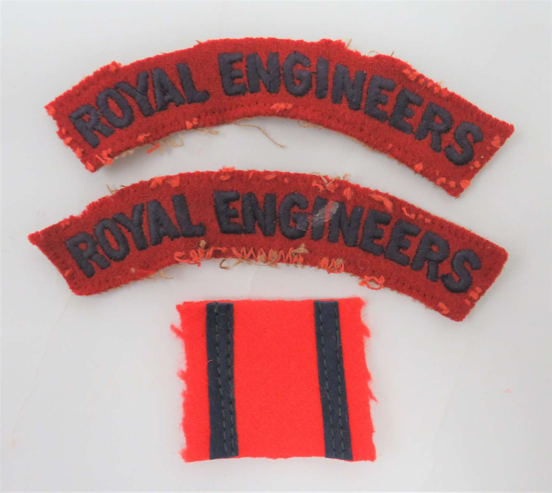 WW2 Royal Engineers Pagri Badge and Titles