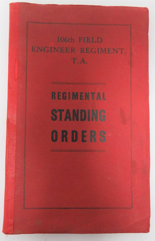 106th Field Engineers Standing Orders Manual