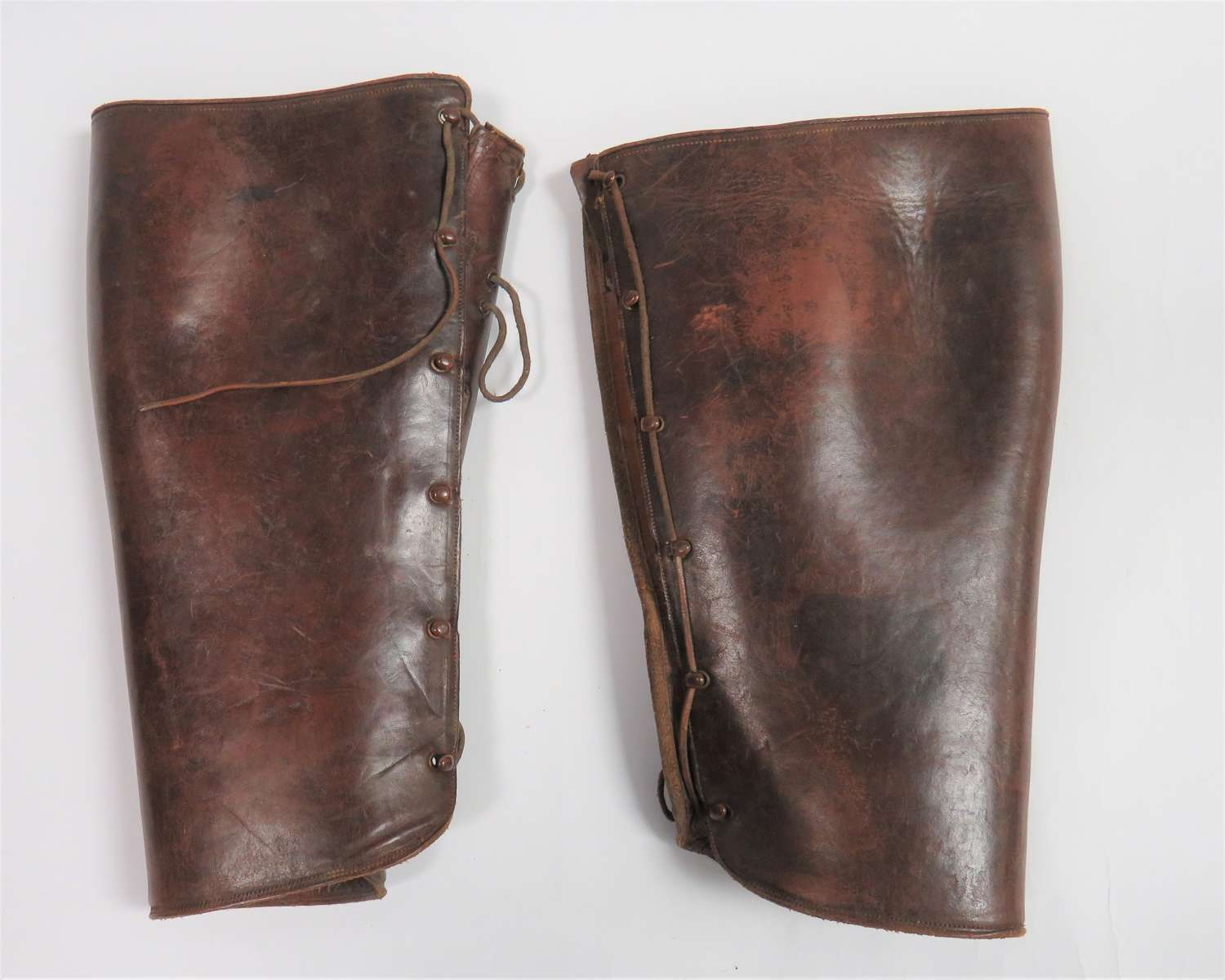 Pair of WW1 Officers Leather Trench Gaiters