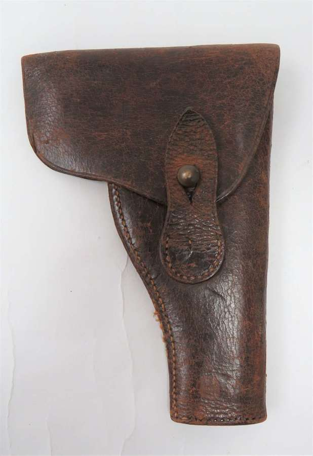 WW1 Period Small Automatic Pistol Leather Holster