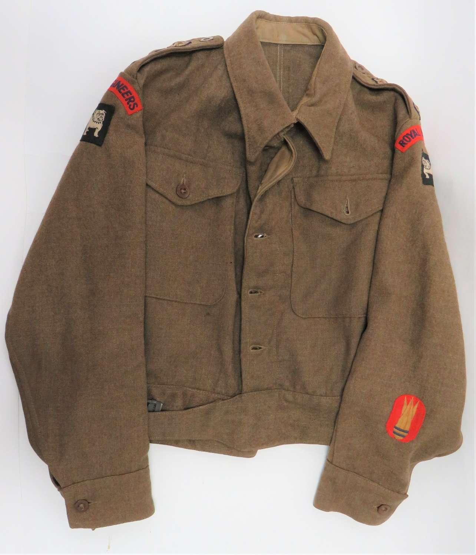1940 Pattern Royal Engineers Bomb Disposal Officer Battledress Jacket