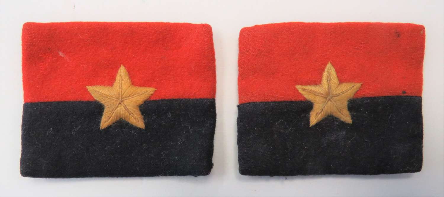 Pair of WW2 G.H.Q India Formation Badges