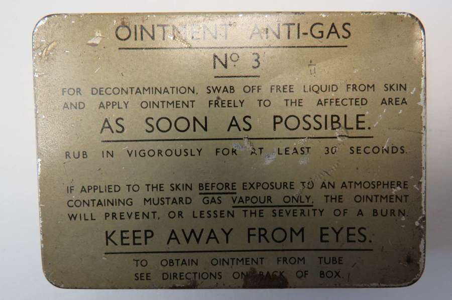 Anti-Gas Ointment No 3 Complete Tin
