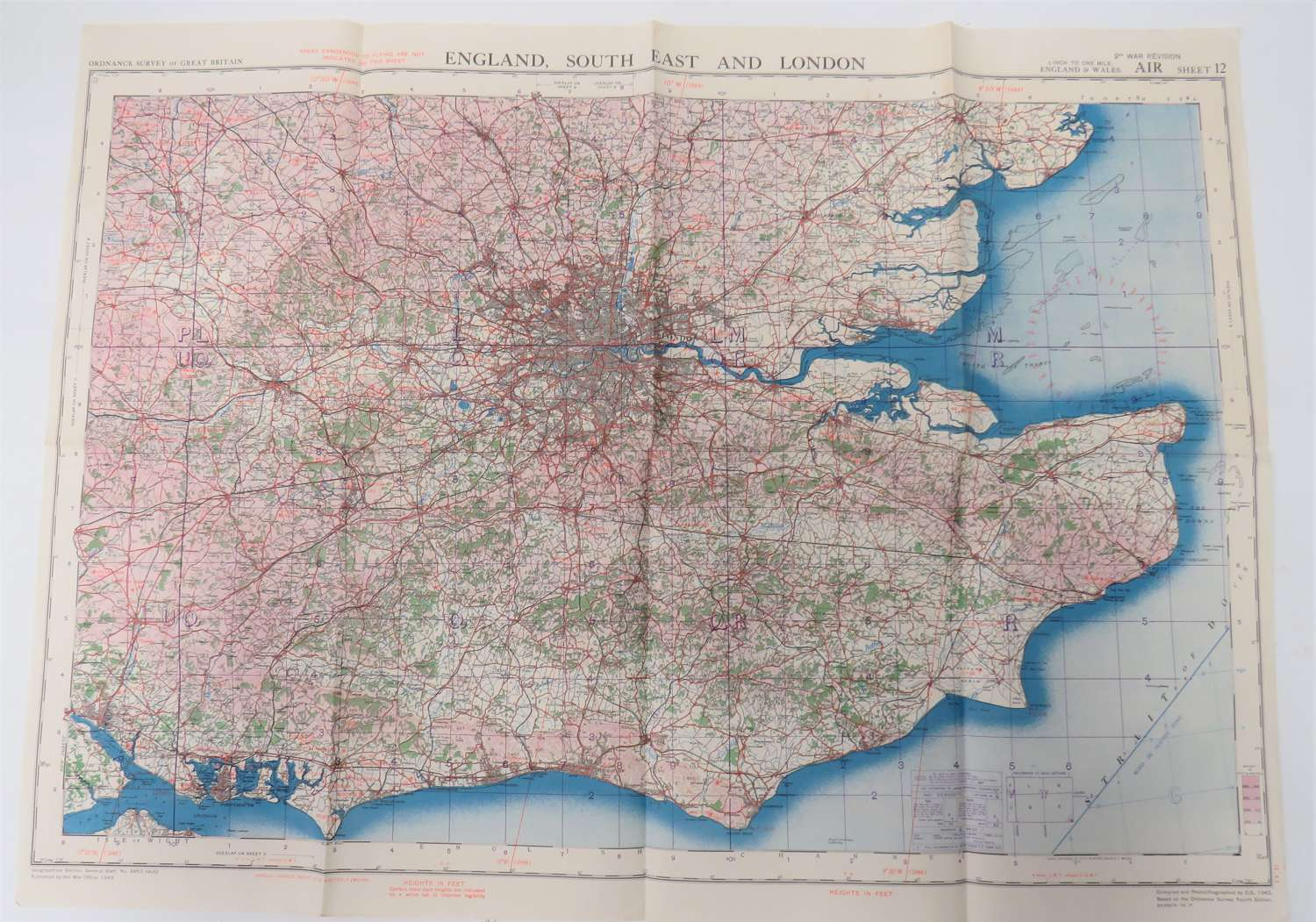 R.A.F Issue South East and London Map