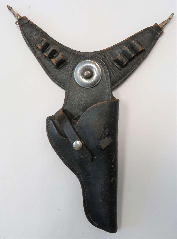 Interwar Open Top Swivel Mounted Revolver Holster