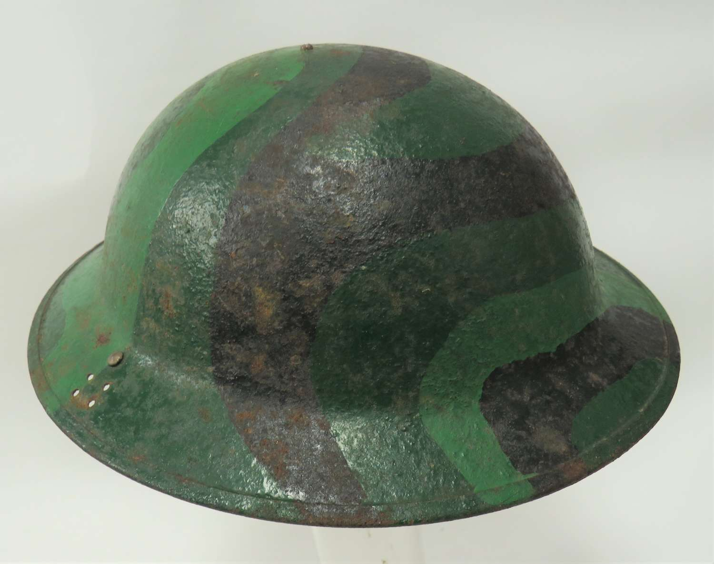 WW2 Home Guard Period Camouflaged MKII Helmet