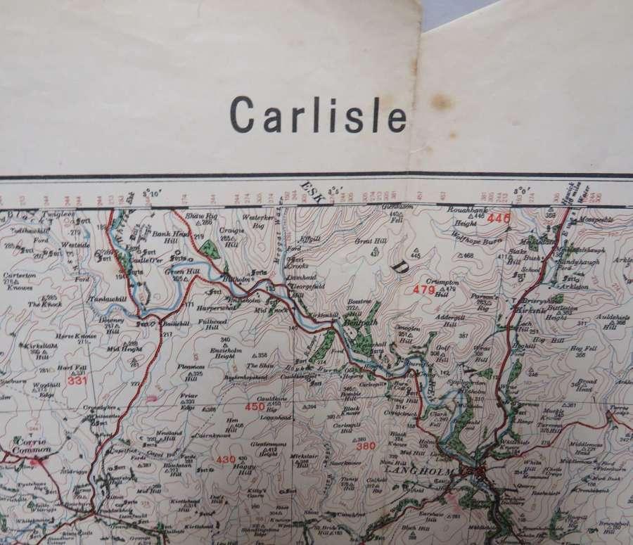 WW 2 German Invasion Map of Carlisle