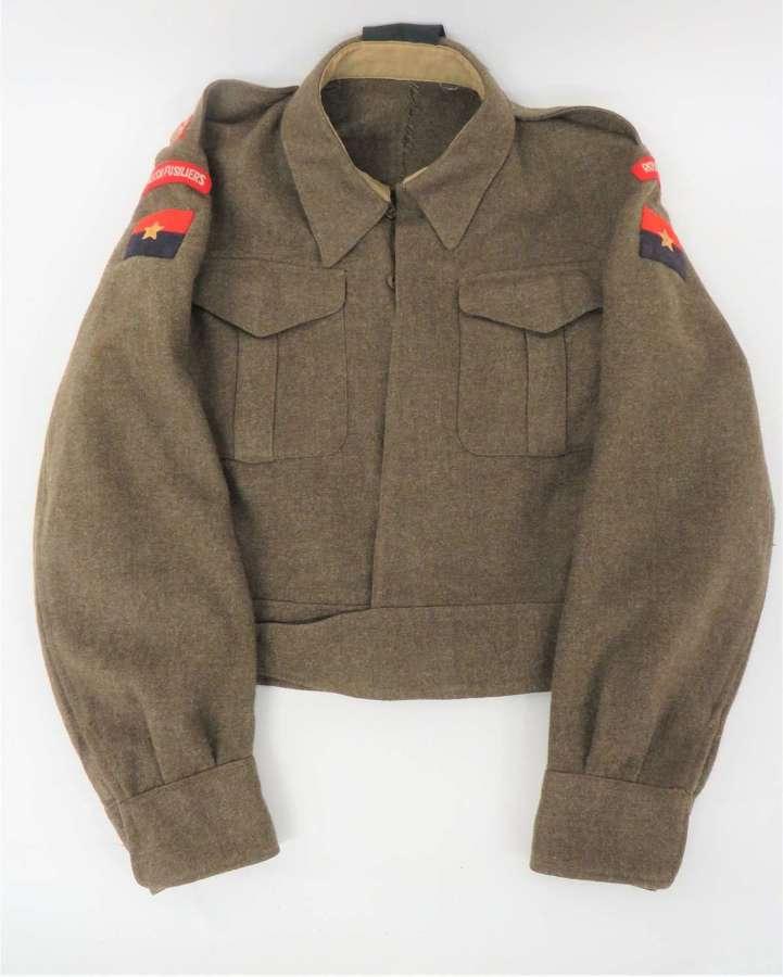 WW2 Royal Welch Fusiliers Officers Battle dress Jacket