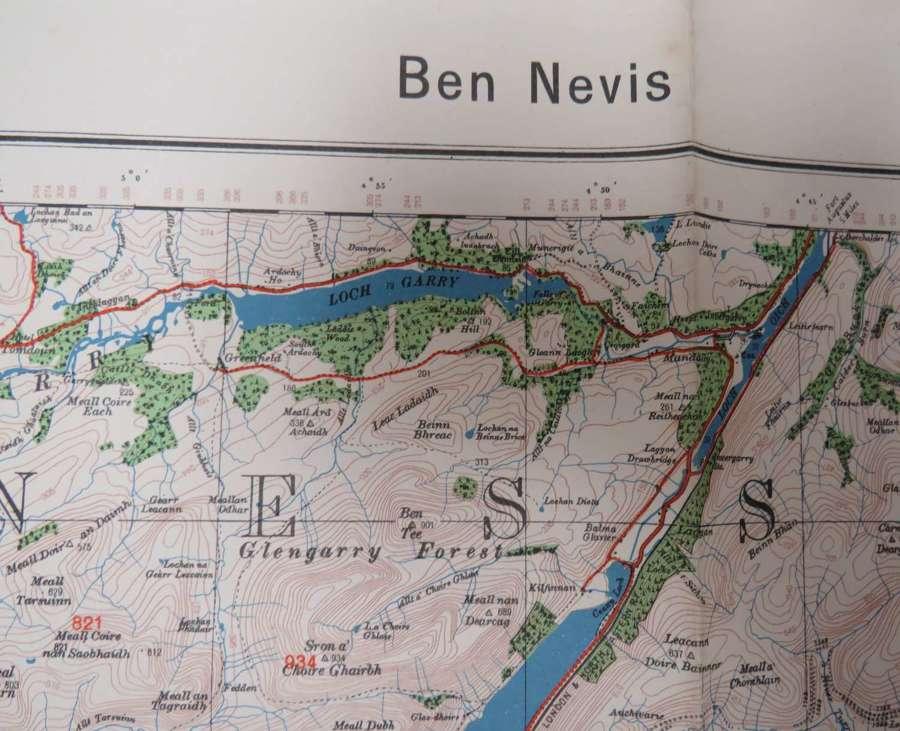 WW 2 German Invasion Map of Ben Nevis