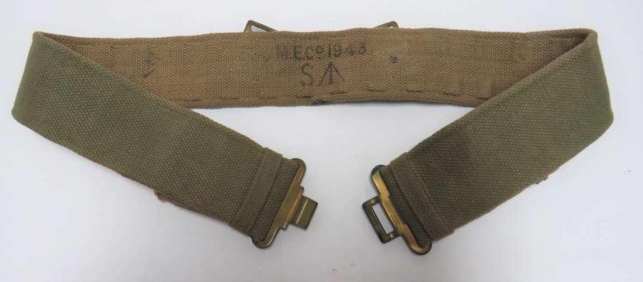 1937 Pattern Utility Webbing Belt WW2 Dated
