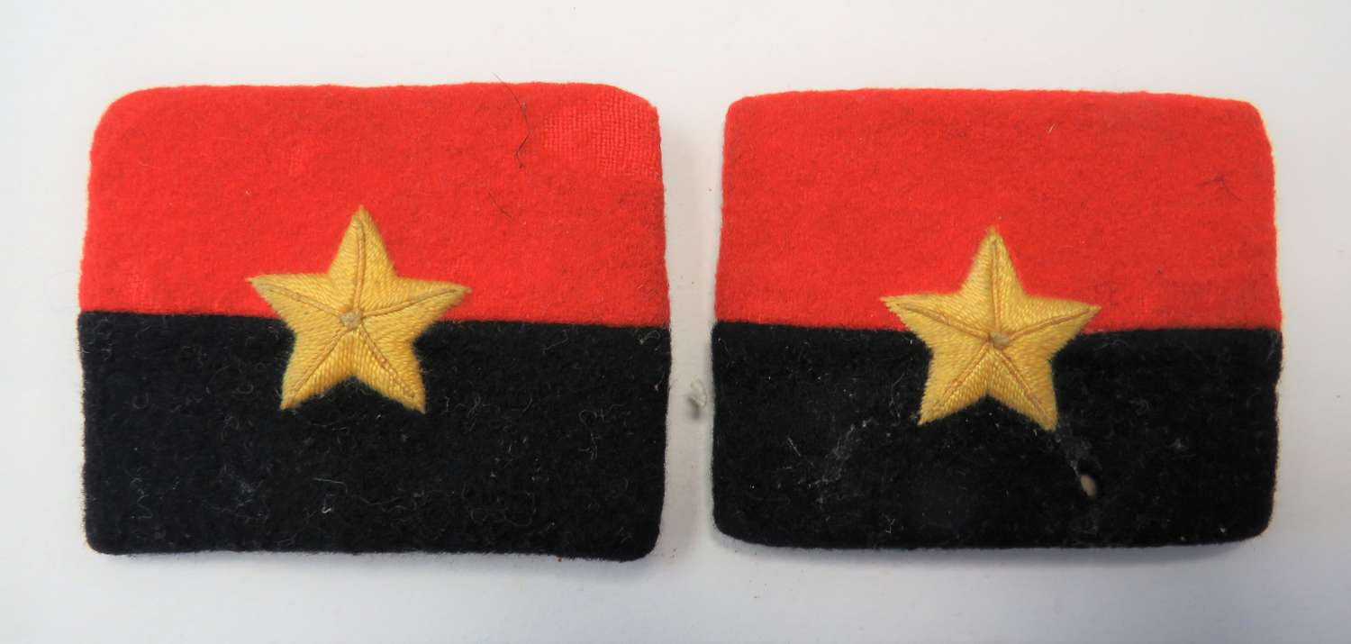Pair of G.H.Q India Formation Badges