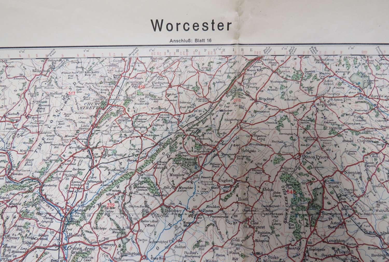 WW 2 German Invasion Map of Worcester